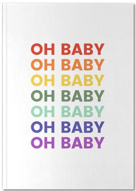 Oh Baby Rainbow Notebook