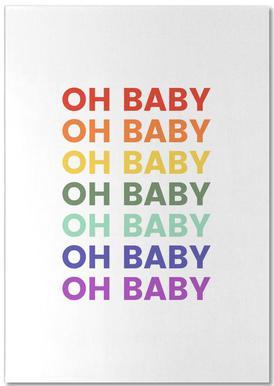 Oh Baby Rainbow Notepad