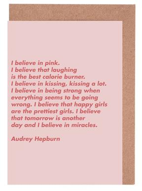 Believe in Pink Greeting Card Set