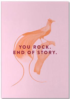 Rock Bird -Notizblock