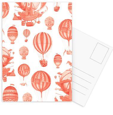 Pattern Balloon -Postkartenset