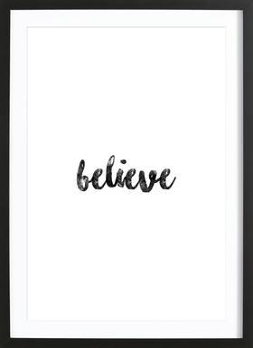 Believe ingelijste print