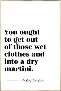 Dry Martini affiche sous cadre en aluminium