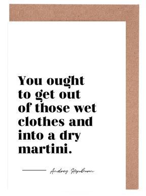 Dry Martini Greeting Card Set