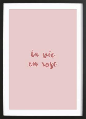 La Vie En Rose ingelijste print