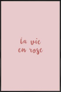 La Vie En Rose ingelijste poster