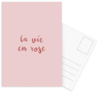 La Vie En Rose Postcard Set