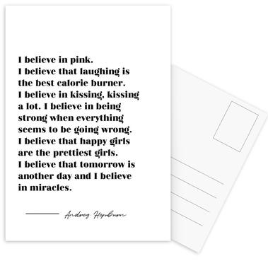 Believe in Miracles Postcard Set