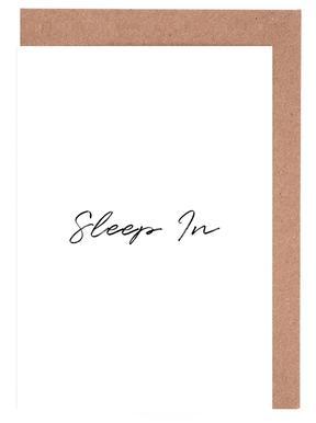 Sleep In Greeting Card Set