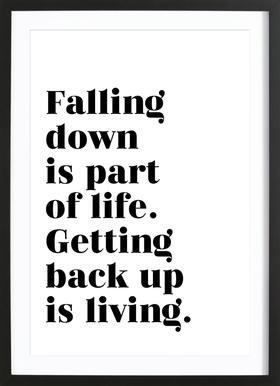 Get Back Up ingelijste print