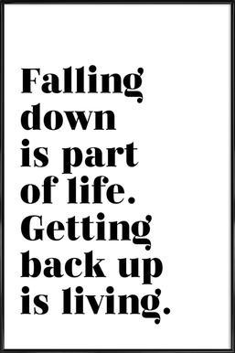Get Back Up Framed Poster