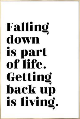Get Back Up poster in aluminium lijst