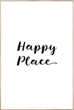 Happy Poster in Aluminium Frame