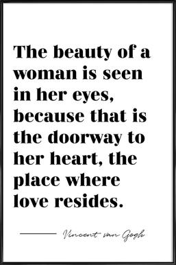 A Woman's Beauty Framed Poster