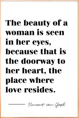 A Woman's Beauty Poster in Aluminium Frame