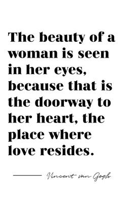 A Woman's Beauty Impression sur alu-Dibond
