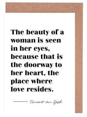 A Woman's Beauty wenskaartenset