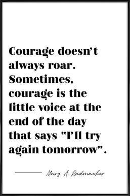 Courage affiche encadrée