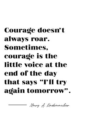 Courage Canvas Print