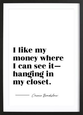 Carrie's Closet Framed Print