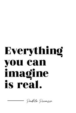 Everything is Real Aluminium Print