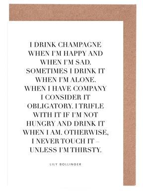 Champagne Greeting Card Set