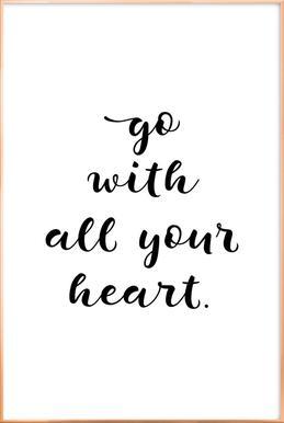 All Your Heart poster in aluminium lijst