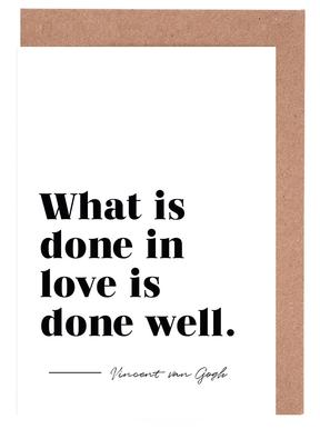 Done in Love Greeting Card Set