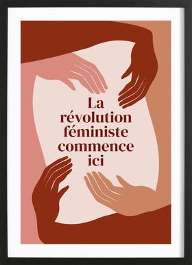 La Révolution Féministe Commence Ici I Framed Print