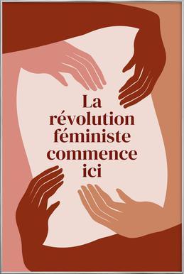 La Révolution Féministe Commence Ici I Poster in Aluminium Frame