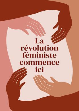 La Révolution Féministe Commence Ici I Canvas Print