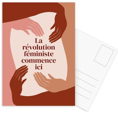 La Révolution Féministe Commence Ici I Postcard Set