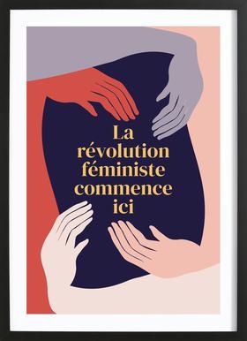 La Révolution Féministe Commence Ici II Framed Print