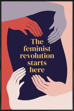 The Feminist Revolution Starts Here II Framed Poster