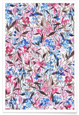 Wandering Wildflowers Pink affiche