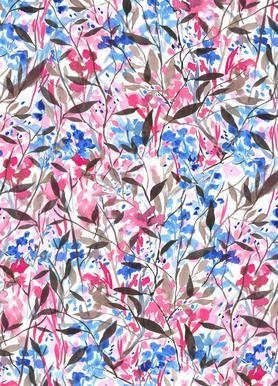 Wandering Wildflowers Pink toile