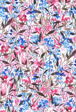 Wandering Wildflowers Pink Impression sur alu-Dibond