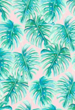 Paradise Palm Blush tableau en verre