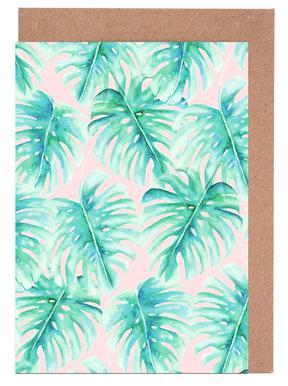 Paradise Palm Blush Greeting Card Set