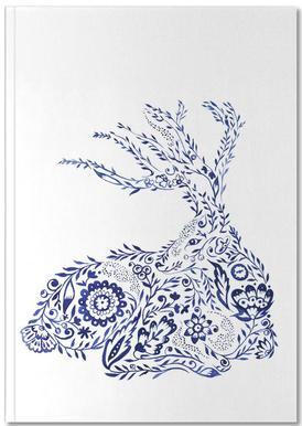 Folk Floral Deer