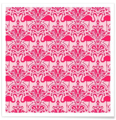 Flamingo Damask - pink