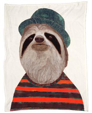 Funky Sloth Fleece Blanket