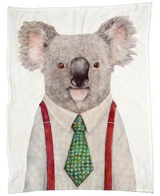 Koala Firefighter Fleece Blanket