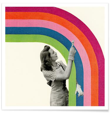 Paint a Rainbow -Poster