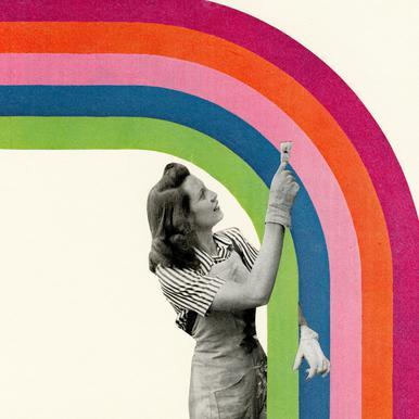 Paint a Rainbow -Alubild