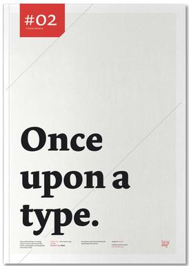 Once upon a type -Notizheft