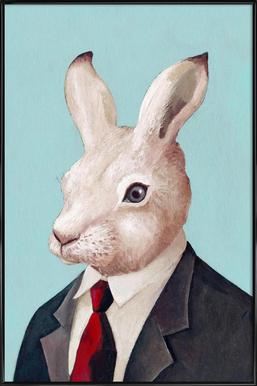 Rabbit -Bild mit Kunststoffrahmen