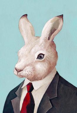 Rabbit Aluminium Print