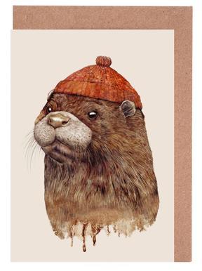 Otter Greeting Card Set