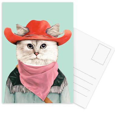 Rodeo Cat -Postkartenset